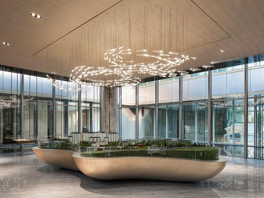 西麓九里售楼中心沙盘区设计效果图