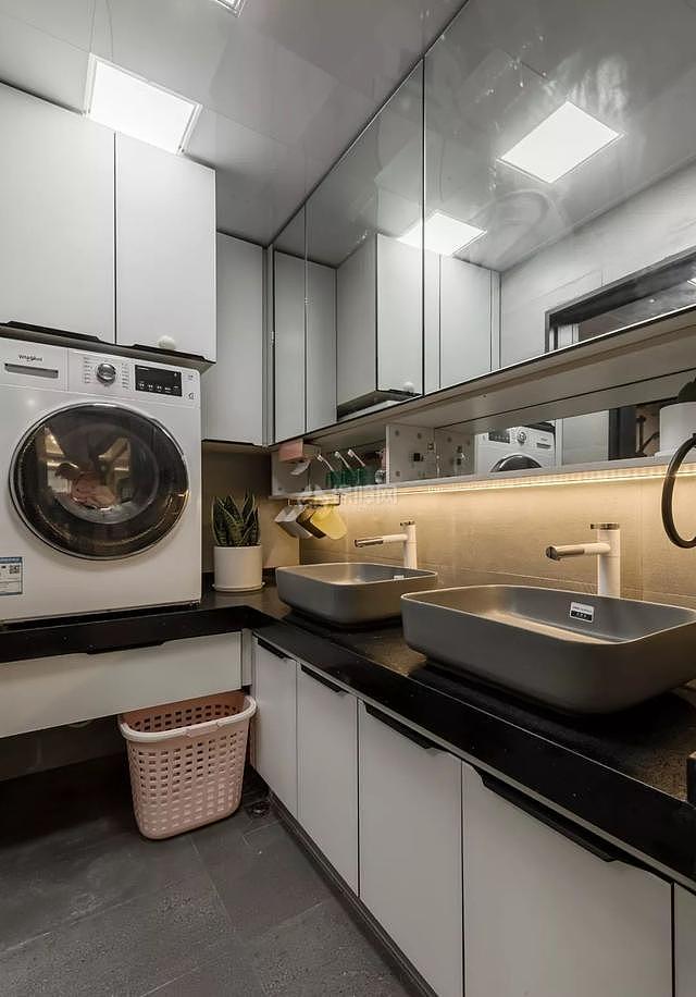 70平简约风洗衣房设计效果图