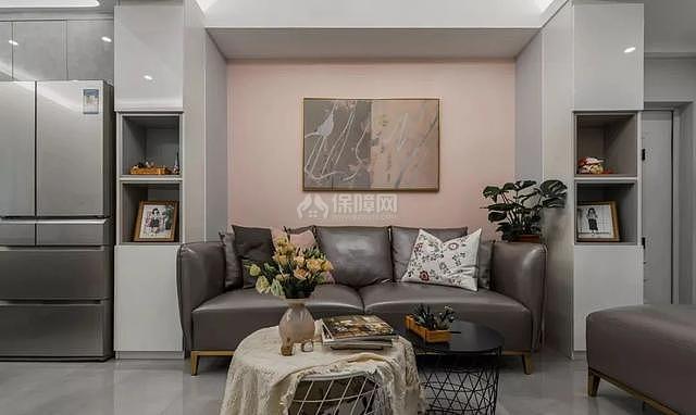 70平简约风沙发墙设计效果图