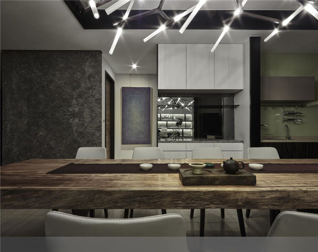 120平四房现代风格别墅室内照片