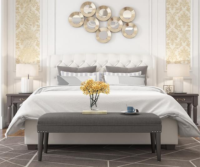 """卧室里别再摆沙发了,年轻人都放""""床尾凳"""",美观大气又实用"""
