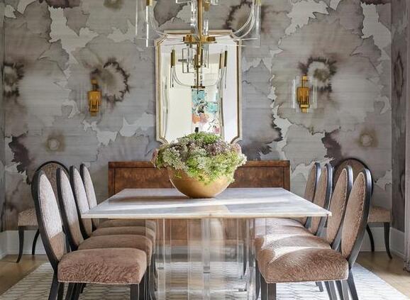 各种风格的餐厅墙纸设计,大胆细腻,在国内很少见