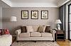 美式三室装修效果图 奶咖色的墙漆好治愈呀