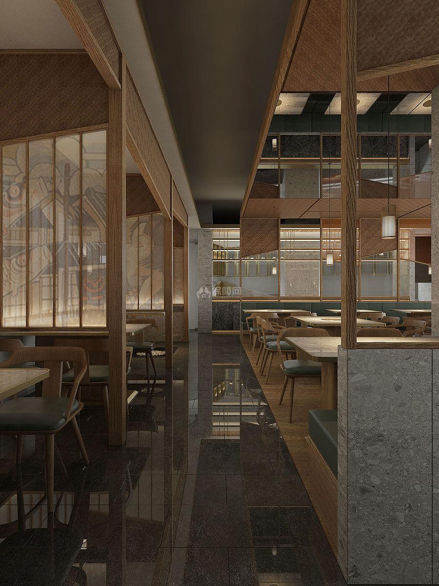 炉饄日式烤肉餐厅内部格局设计效果图