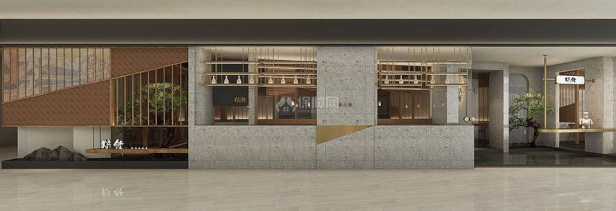 炉饄日式烤肉餐厅外观设计效果图