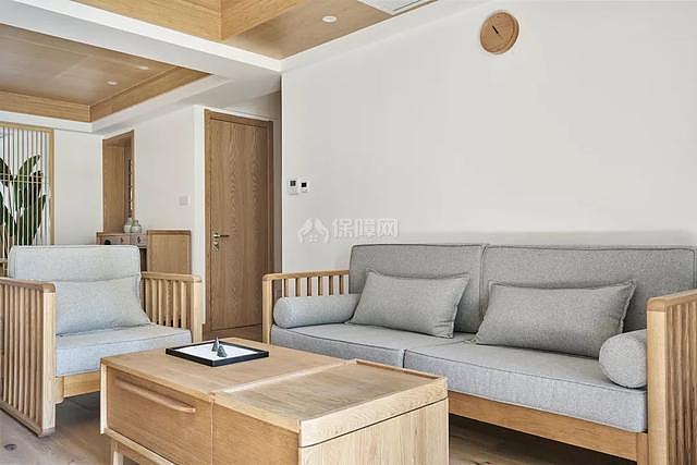 130㎡日韩风客厅沙发摆放效果图
