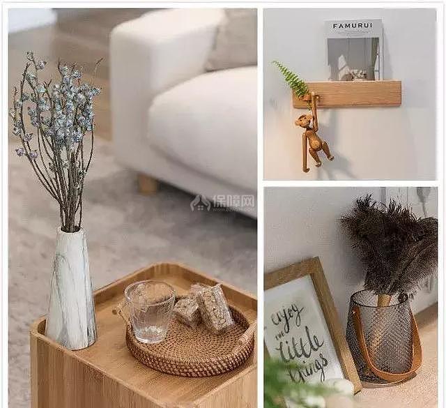 117㎡日式客厅装饰品细节图