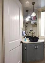 118平地中海风卫生间洗手台设计效果图