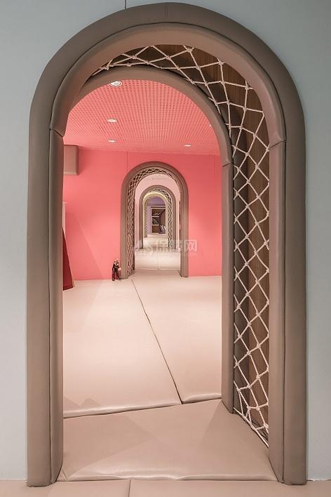 维塔兰德亲子餐厅圆拱门造型设计效果图