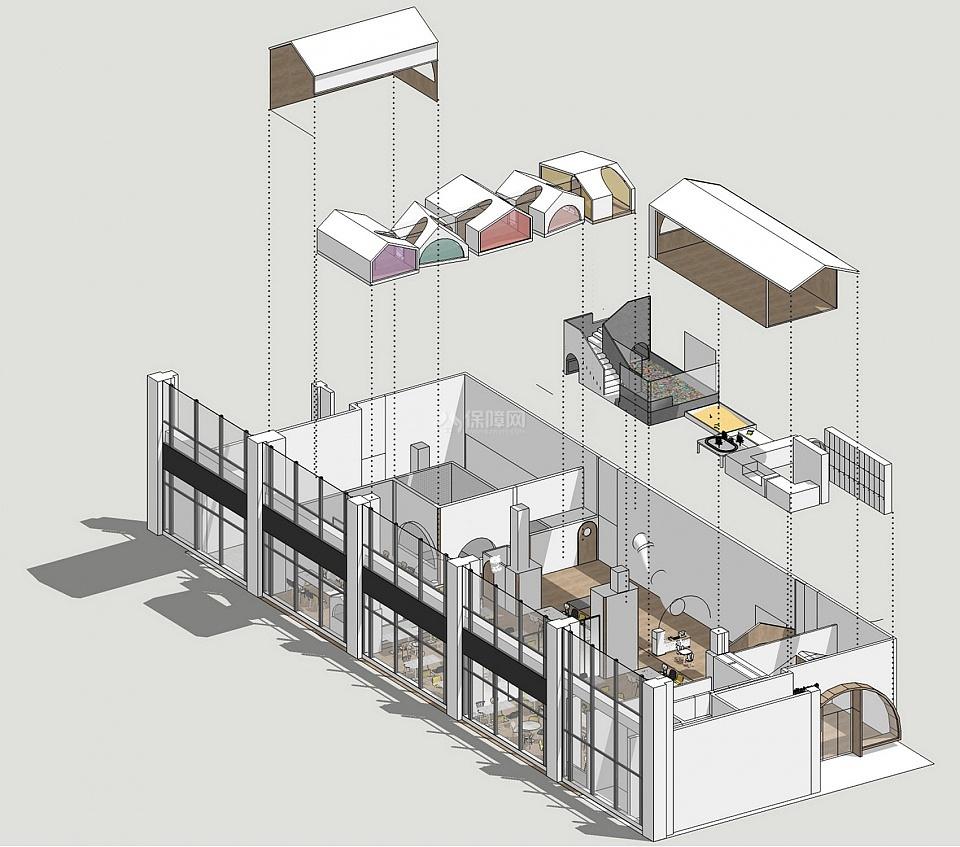 维塔兰德亲子餐厅概念设计效果图