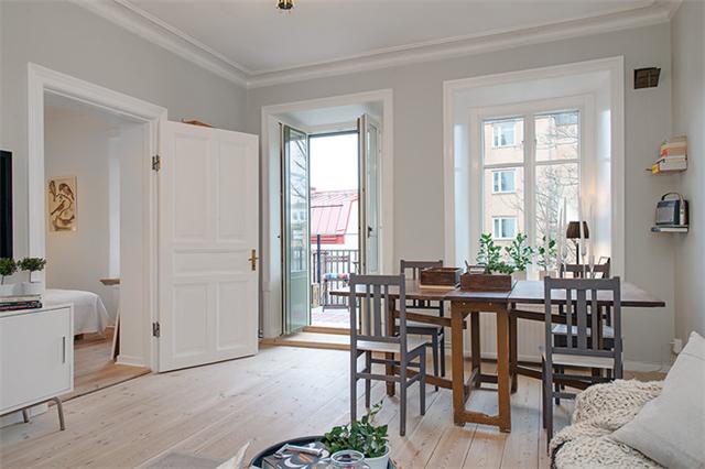 欧式装修风格图片——洁白欧式一居室