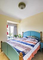 80㎡地中海风卧室装修效果图