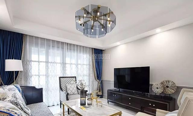 140平现代简美客厅装修效果图