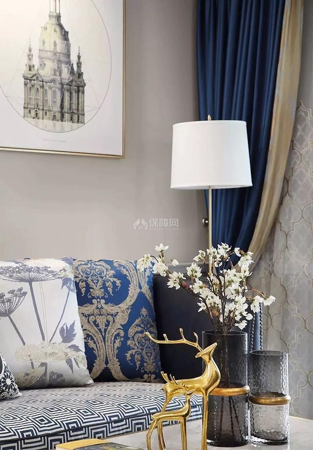 140平现代简美客厅软装配色