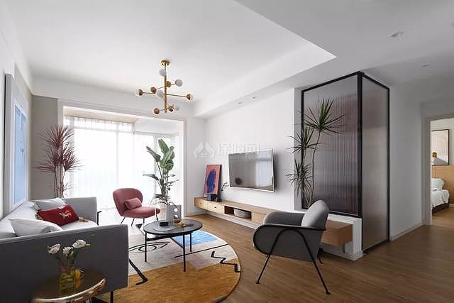 107平米现代客厅装修效果图