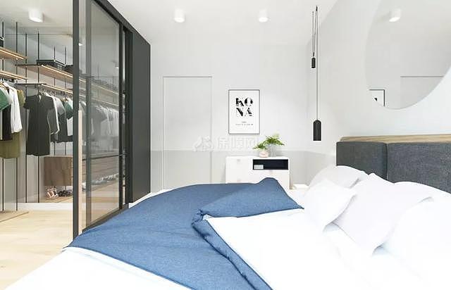 66平米北欧风卧室床品布置效果图