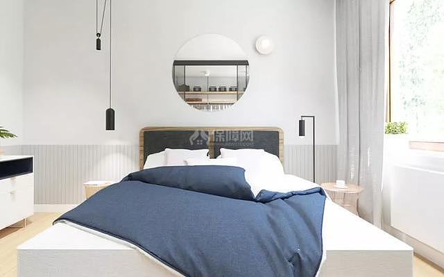 66平米北欧风床头背景墙装饰