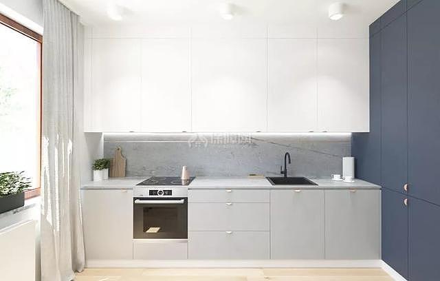 66平米北欧风开放式厨房装修效果图