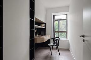 185㎡现代极简复式书房装修设计效果图