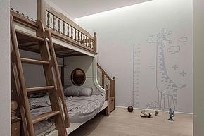 185㎡现代极简复式儿童房装修设计效果图
