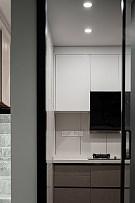 185㎡现代极简复式厨房装修效果图