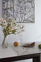 185㎡现代极简复式餐厅墙面装饰画细节图