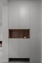 185㎡现代极简复式玄关柜设计效果图