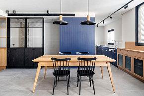 60㎡个性简约公寓餐厨区设计效果图