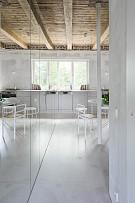 67㎡简约风格公寓开放式厨房设计效果图