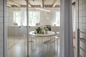 67㎡简约风格公寓餐厅设计布置效果图