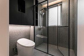 65㎡极简单身公寓卫生间装修效果图
