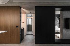 65㎡极简单身公寓卫生间隐形门设计效果图