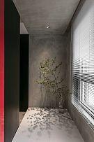 65㎡极简单身公寓地台区设计布置效果图