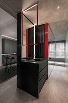 65㎡极简单身公寓厨房水槽设计