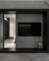 65㎡极简单身公寓电视墙设计效果图