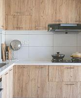 200㎡日式原木风别墅厨房设计效果图