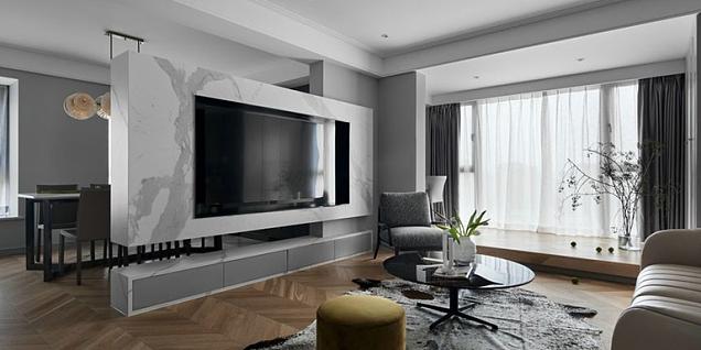 89㎡现代时尚两居室家装设计效果图案例