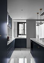 89㎡现代时尚厨房装修设计效果图