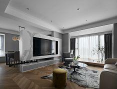 89㎡现代时尚客厅装修设计效果图