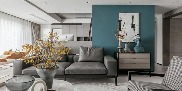 150㎡舒适现代四居室装潢效果图案例