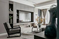150㎡舒适现代客厅电视墙设计效果图