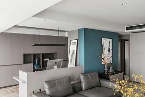 150㎡舒适现代客厅沙发背景墙设计效果图