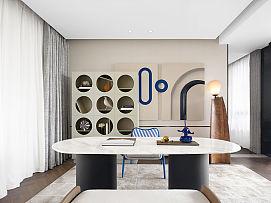 375㎡自然主义别墅家庭厅装修设计效果图