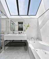 225平摩登现代别墅卫生间洗漱台设计效果图