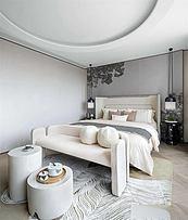 225平摩登现代别墅主卧设计效果图