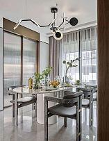 225平摩登现代别墅餐厅装修布置效果图