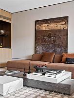 225平摩登现代别墅客厅沙发背景墙装饰效果图