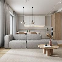 70㎡极简小户型客厅装修布置效果图