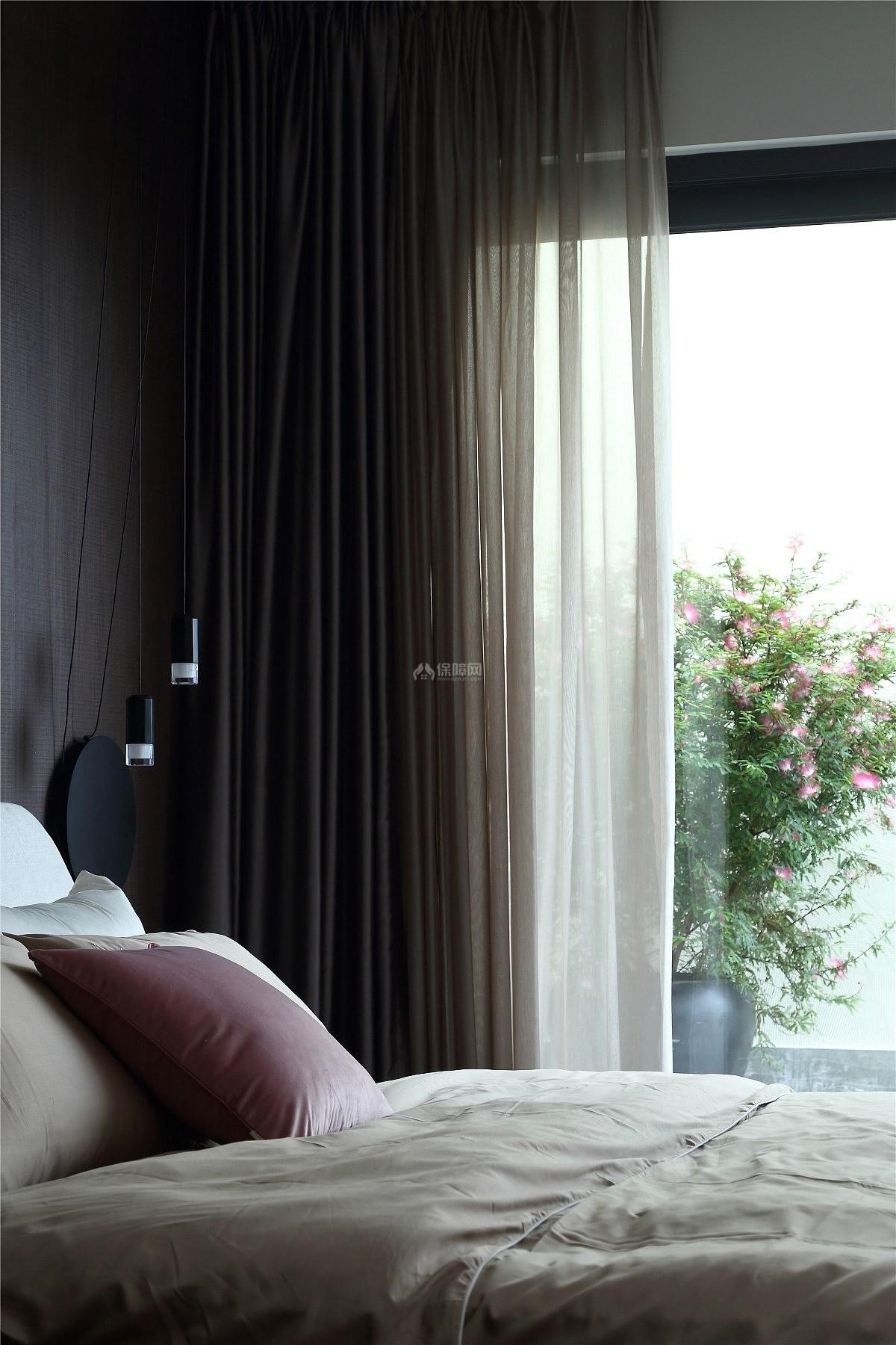 215㎡温馨现代跃层卧室软装搭配效果图