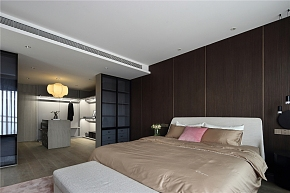 215㎡温馨现代跃层卧室隔断设计效果图